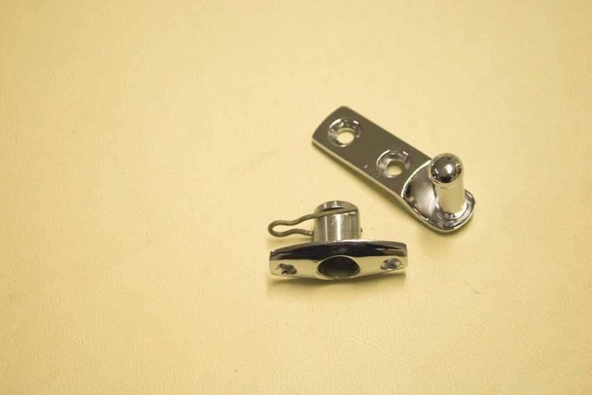 side step closing latch