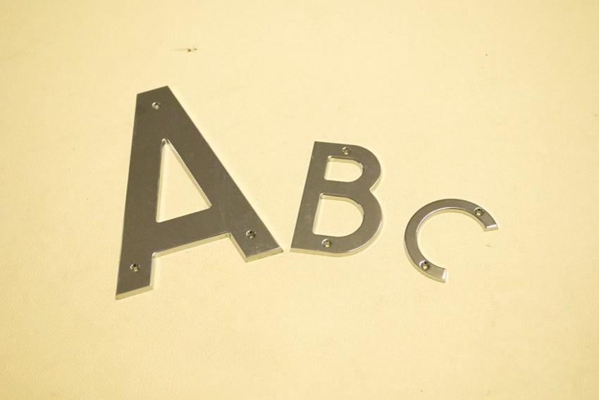 lettere cromate nomi poppa - altezze varie