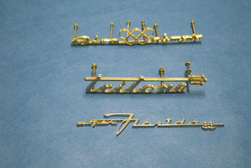 lettere dorate cruscotto - modelli vari